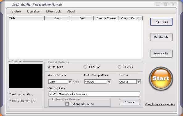 software mengasingkan audio daripada video