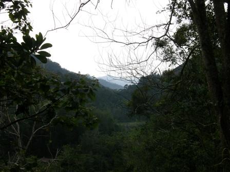 Gunung Nunuk Sirung di lihat dari jauh