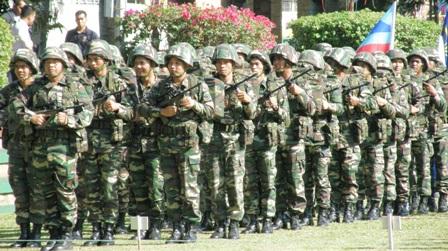 Gagah, Pasukan Tentera yang mengambil bahagian dalam raptai